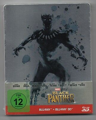 Black Panther 3D - Blu-ray Steelbook - NEW / SEALED - All Regions: ABC