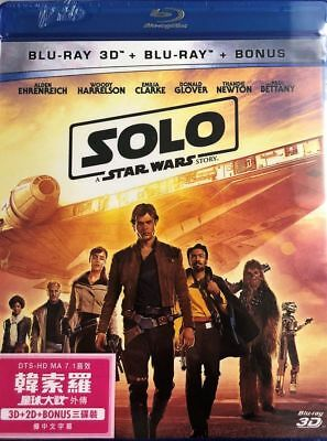 Solo: A Star Wars Story (3D+2D+Bonus) 2018 ( 3 x BLU-RAY) All Region