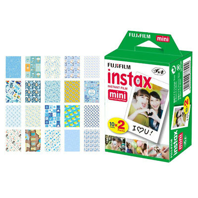 Fujifilm instax mini Instant Film (20 Exposures) + 20 Baby Boy Sticker Frames