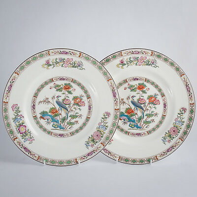 "Wedgwood Kutani Crane R4464 Bone China 2 (Pair) Dinner Plates 10.75"" England 1st"