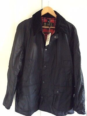 Men's BARBOUR Black Ashby Wax jacket XL new with tags