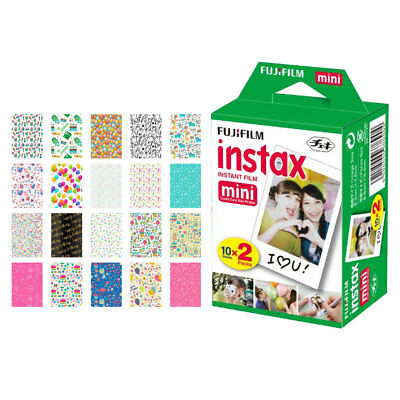 Fujifilm instax mini Instant Film (20 Exposures) + 20 Birthday Sticker Frames