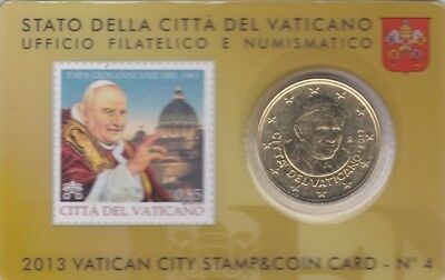coincard stamp 50ct vatican 2013 N°4 neuf