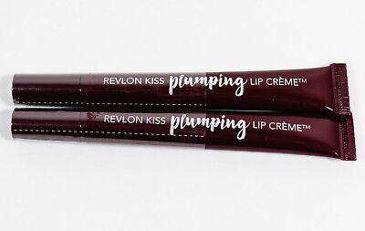 2 Revlon Kiss Plumping Lip Creme #545 RICH BORDEAUX