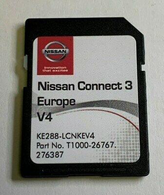 Genuine Nissan Connect 3 Navigation Sd Card Lcn3 V4 Micra Qashqai Note Juke Cube