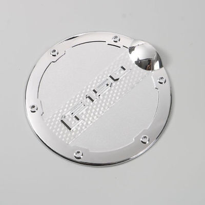 Chrome Fuel Tank Oil Cap Door For Ford F-150 F150 2015-2018 Silver High Quality