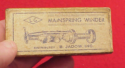 L G Mainspring Winder B Jadow Wristwatch Boxed