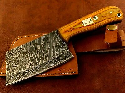 Handmade Damascus Steel Saddler-Leather Cutter-Half Moon-Workers Tool-LC56