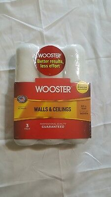 Wooster 9in Pain Roller Refills 3 Pack Wall and Ceiling