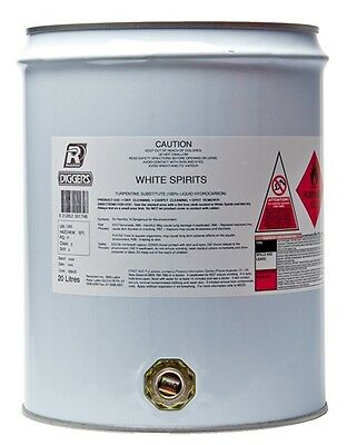 Diggers White Spirits Home Dry Cleaning Fluid 20 Litre Bulk Drum Rechochem