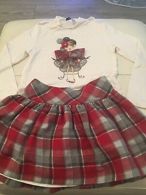 Girls Mayoral Outfit Skirt And Top Age 5
