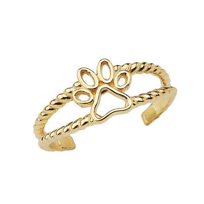 Fine Starfish Rope Toe Ring in Solid 10k White Gold