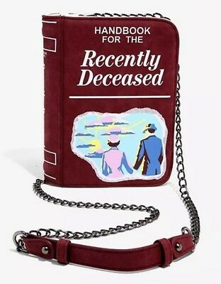 Beetlejuice Handbook For The Deceased Faux Leather Crossbody Clutch Purse Bag