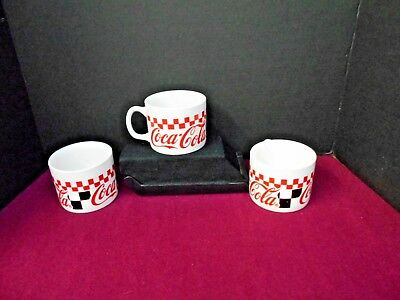 Gibson 1996 Coca Cola Cups Checkered Pre-Owned Lot Of Three