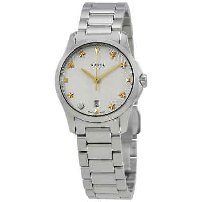 8d2dc0f3b76 GUCCI G-TIMELESS SILVER Dial Stainless Steel Ladies Watch YA126572 ...