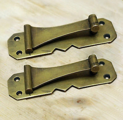 "5.11"" 2 pcs BIG Vintage CUDGEL Pulls Brass Antique Cabinet Door Drawer Pulls"
