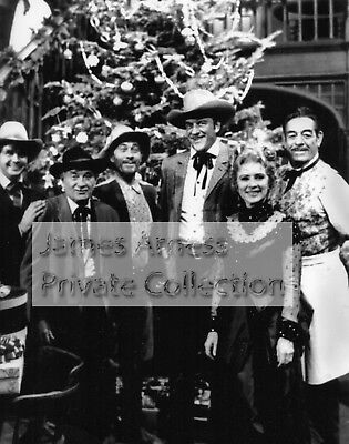 "James Arness Private Collection Gunsmoke ""Group Christmas"" 8 x 10 Photo"