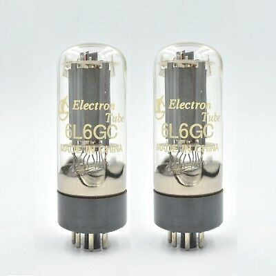 NEW SHUGUANG 6L6GC Tubes PAIR MESA FENDER 6L6 6L6GCR MATCHED- TESTED