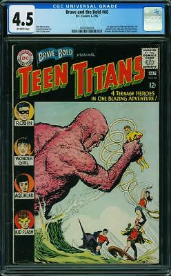 Brave and the Bold 60 CGC 4.5 Teen Titans. 1st app of new Wonder Girl