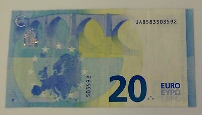 20 € Euro  Banknote France 2015 Serie # Ua8583503592 Good Condition
