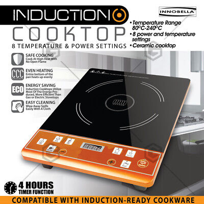 2000W Electric Induction Cooktop Portable Single Cooker Kitchen Hot Plate