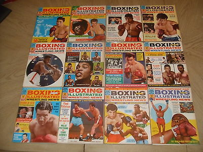 VINTAGE FULL SET of 12 1964 Boxing Illustrated Wrestling News Magazines FOY MINT
