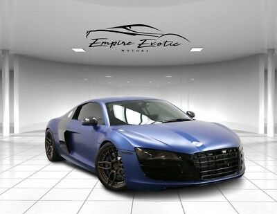 2011 R8 5.2L 750 HP Twin Turbo V10 H&R Springs! 2011 Audi R8, Jet Blue Metallic/Ice Silver with 42,201 Miles available now!