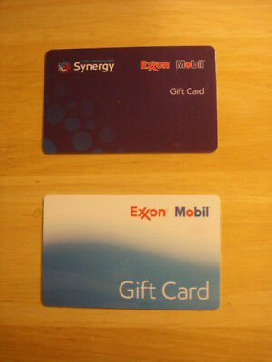 Two (2) Exxon Mobil Collectible Gift Cards, NO VALUE
