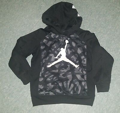 BOYS JORDAN THERMA FIT Pullover Hoodie SZ Med 56 Black Camo