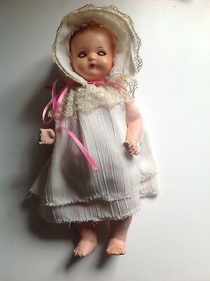 Antique paper mache baby doll