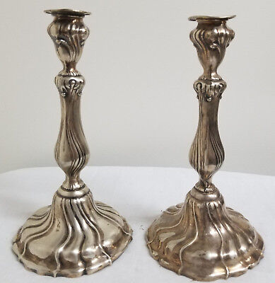 Antique German Silver Hallmarked Candlesticks Art Nouveau Wilhelm Binder