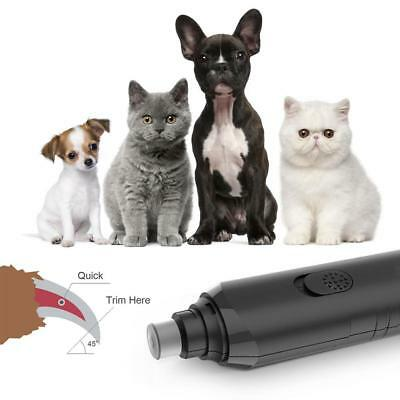 Electric Dog Cat Pet Claw Toe Nail Trimmer Care Grooming Grinder Clipper Tools