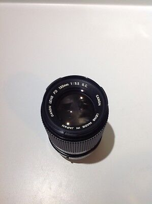 CANON FD 135MM 1:3.5 S.C Camera Lens MINT