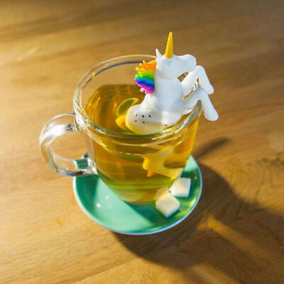 Unicorn Tea Strainer Infuser Filter Silicone Leaf Spice Herbal Loose Diffuser WA