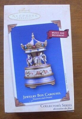 Hallmark Keepsake Jewelry Box Carousel 2003 Ornament NIB