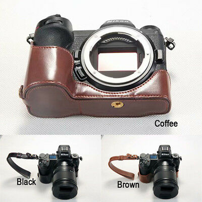 Leather Camera Half case Bag Grip with strap for Nikon Z7 Z6