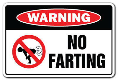 NO FARTING Warning Decal fart pass gas stink ass bomb farter 5""