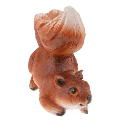 Squirrel Garden Statue Patio Feature Outdoor Ornament Sculpture Yard Decor