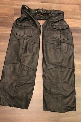 Harley Davidson Men's Motorcycle Chaps Size Large Lined Pre-owned