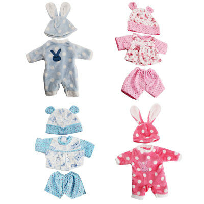 Baby Doll Clothes Fit Zapf Doll Jumpsuit Suit Doll Pajamas Sleeping Clothes UK