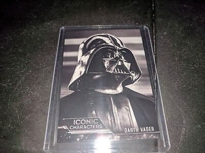 2018 Star Wars Black and White Iconic Characters Insert Darth Vader IC-8