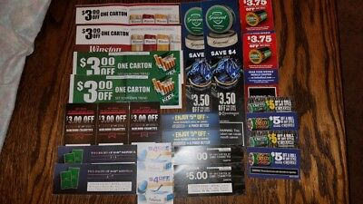 Big Tobacco Coupon Lot $100 Skoal Copenhagen Winston Kool Marlboro Camel