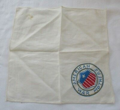 WWII Mother Hankerchief..... American War Mothers....Hand Painted