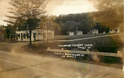 Vermont Rppc Postcard: Amoco Gas Station Friendship Tourist Camps, Putney, Vt
