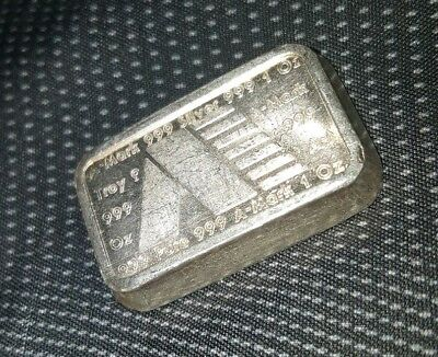 1981 USVI A-Mark Chubby Ingot - 1 Troy oz .999 Fine Silver Stackable Bullion Bar
