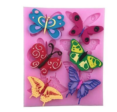 3D Butterflies Chocolate Fondant Cake Decorating Baking Mould Silicone Mold MA