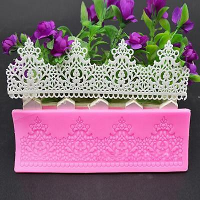 Silicone Flower Lace Mat Cake Decorating Mould Fondant Chocolate Baking Mat MA