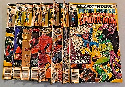 Lot of Marvel Comics Group Peter Parker the Spectacular Spider-Man #'s 6,7,8...