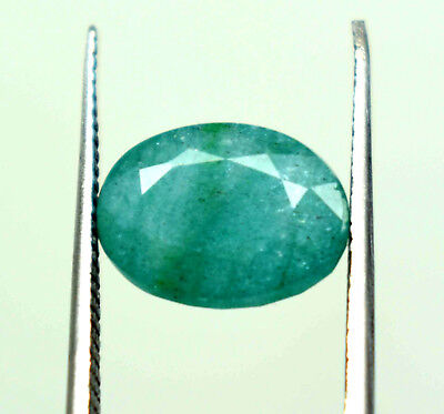 Nice 4.75 Ct Oval Cut Natural Green Emerald  Panna  Ggl Certified Hurry Now