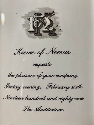 New Orleans Mardi Gras Krewe Favor - Nereus 1981 - Ball Invitation Ceramic Tray